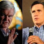 GOP presidential candidate Mitt Romney's (far right) campaign style is polished and buttoned down. By contrast, rival Newt Gingrich (center) acts the professor, and Ron Paul (left) the idealist.